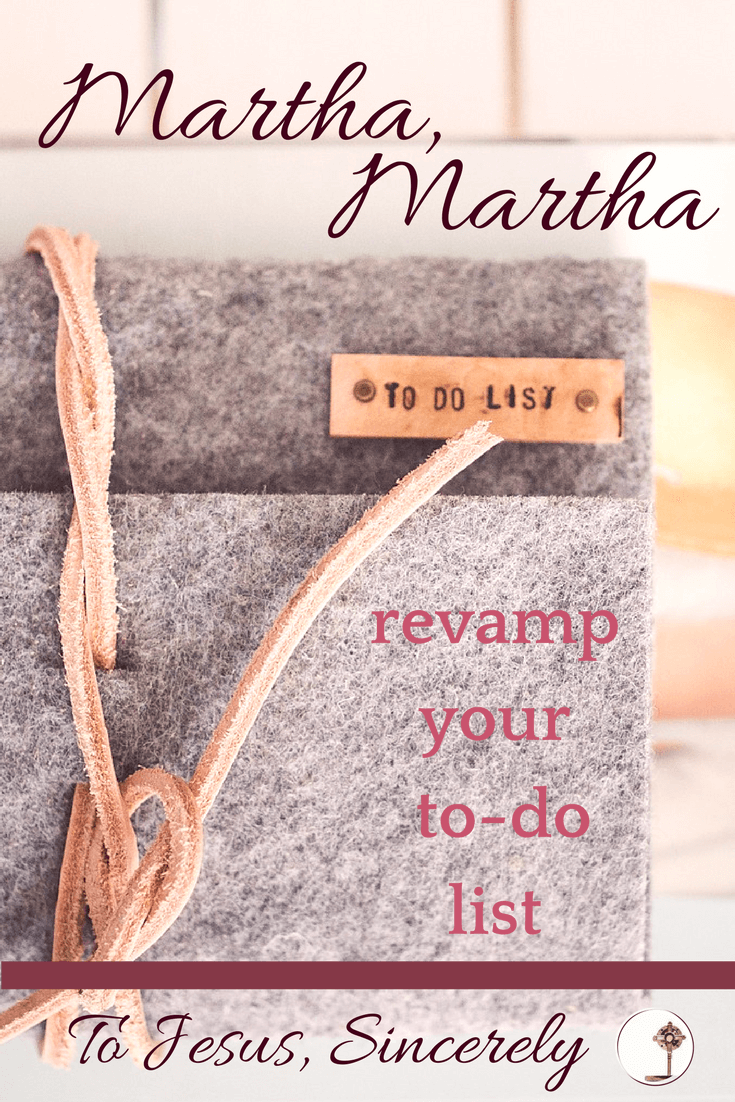 "I'm often like Martha: I have good intentions of fulfilling my calling by taking care of all the duties and temporal tasks of my vocation. But I lose sight of God. I get swallowed up in dishes, laundry, changing diapers, tidying up; I justify my actions by saying, ""I'm fulfilling my vocation."""