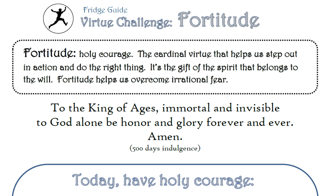 fortitude printables preview