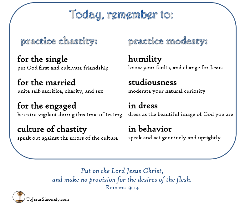 How to practice chastity