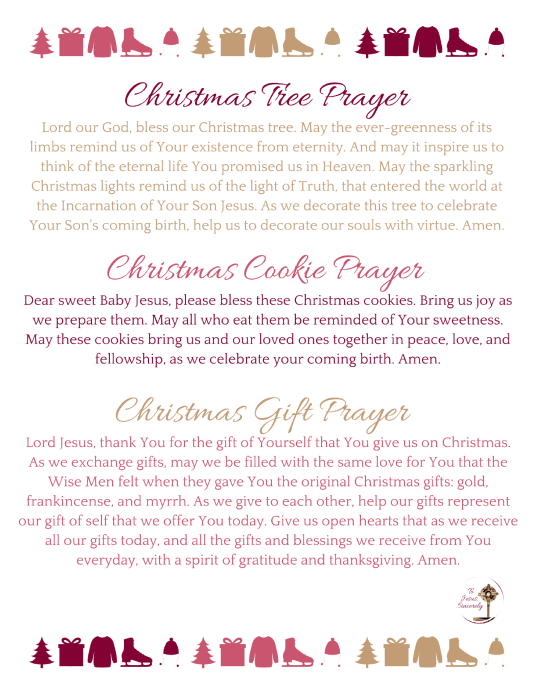 Christmas Tradition Prayers