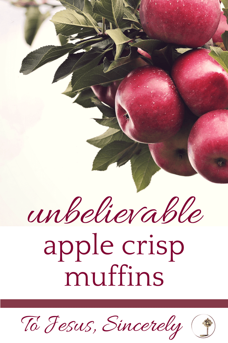 Unbelievable Apple Crisp Muffins.
